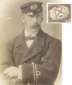 Arthur Richard Bolton with detail of cap badge inset