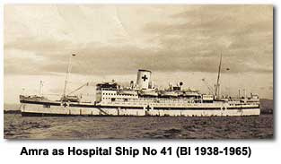 Amra as Hospital Ship No 41 (BI 1938-1965)